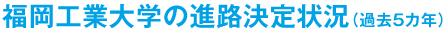 福岡工業大学の進路決定状況(過去5カ年)