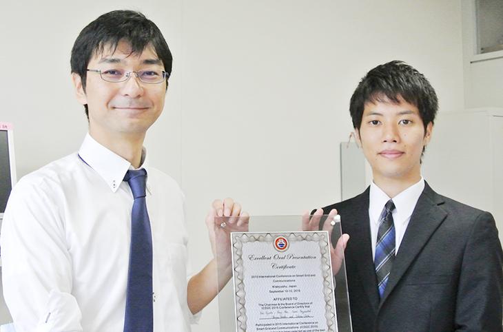 [電子情報工学専攻]安部さんと江口教授の論文が国際会議ICSGC'2015でExcellent Oral Presentationを受賞