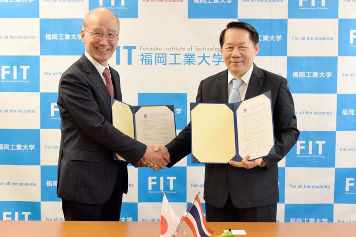 泰日工業大学と福岡工業大学が協定締結