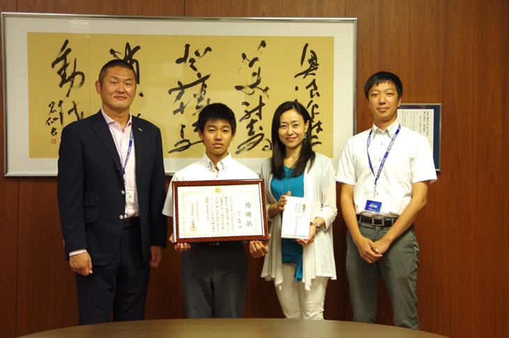 [附属城東高校]1年 村上 隼魁さん 水難事故で人命救助し、壱岐市消防より感謝状が贈られました!