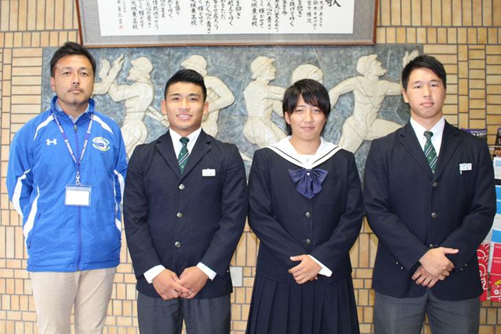 福岡県選抜ラグビーチームに城東高校ラグビー部の3名と平本監督が出場しました!