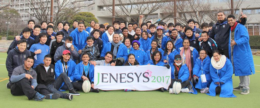 JENESYS2017 大洋州諸国の学生がラグビー部と交流