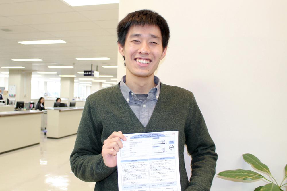 [情報通信工学科・電子情報工学科]1年生がTOEICにて高得点を獲得しました