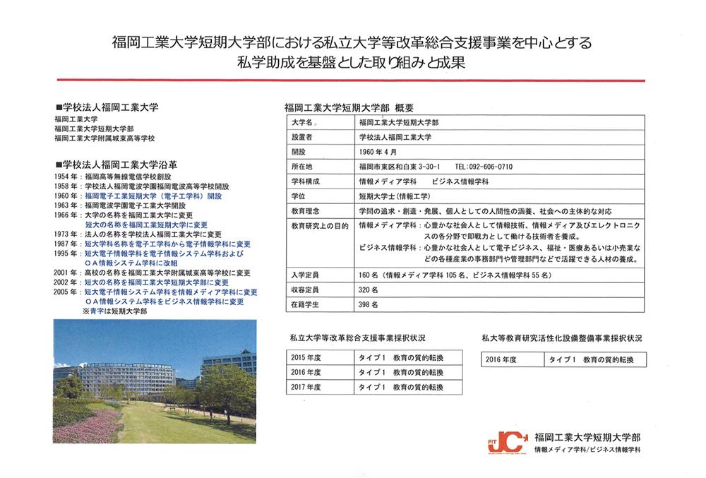 平成29年度 私立大学等改革総合支援事業 短期大学部の取り組みが文部科学省ホームページに掲載