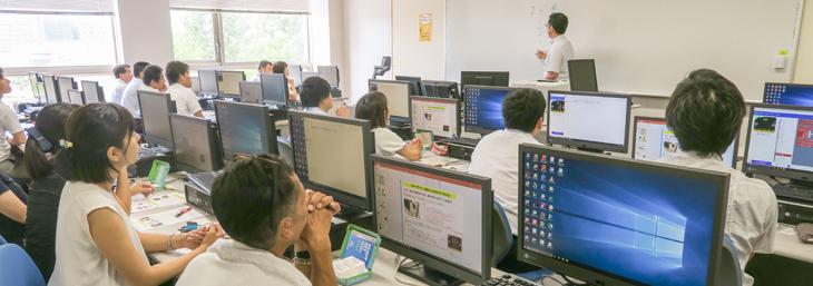 糟屋区小学校情報教育研究会にて藤岡教授がプログラミング教育に関する研修講師を務めました!