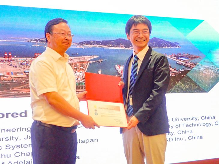 [電子情報工学科]江口教授と安部裕人さんの論文が国際会議ICICIC2018でBest Paper Awardを受賞
