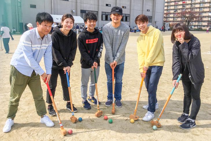 本学の留学生とFIT-ICEがグラウンドゴルフ大会に参加しました