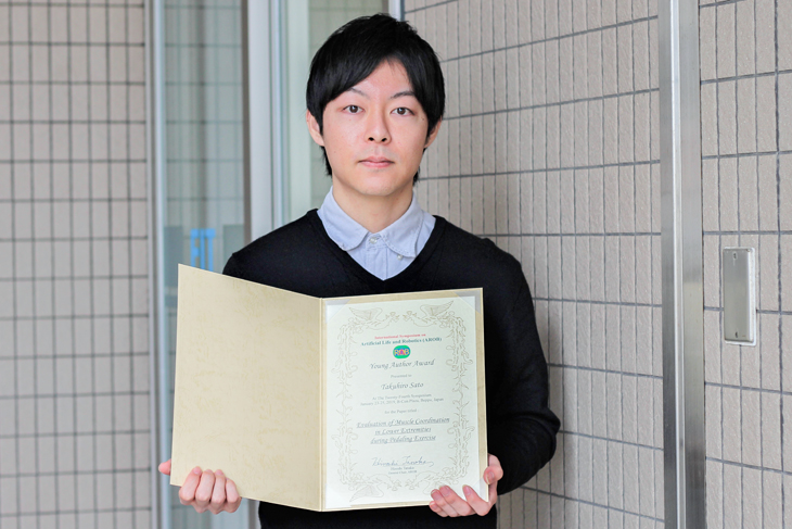 [知能情報システム工学専攻]2年 佐藤 拓広さん AROB 24th 2019『Young Author Award』受賞