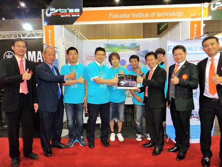 [知能機械工学科]加藤准教授と学生がEngineering Expo2015 inバンコクに参加しました