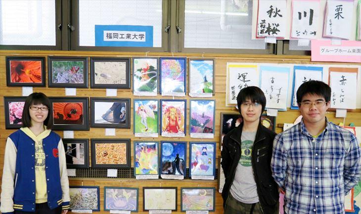 [福岡和白病院・創生会との医介学連携]学生サークル3団体が奈多創生園作品展に出展